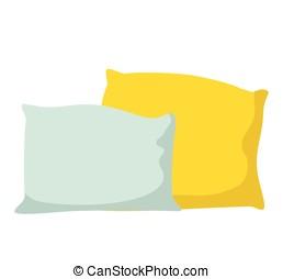 Pillow vector illustration flat design