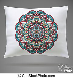 Pillow - Vector Interior design element - Decorative throw...