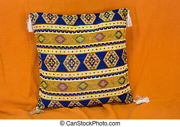 pillow with Arabic pattern