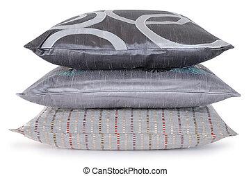 pillows., chevauché