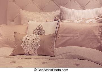 Plush soft tone bed pillows
