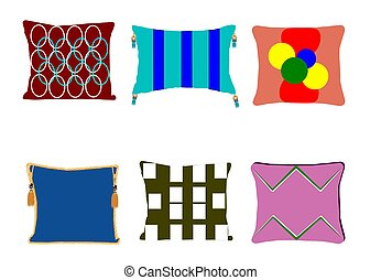 funk pillows over white