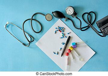 pills., 別, シート, 着色されたペン, ペーパー, 黒, 白