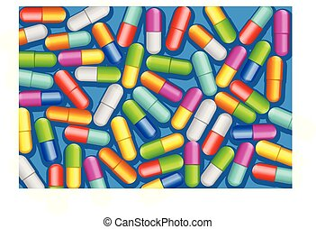 pills a lot - illustration of ta lot of pills different...