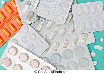 Pills and Medicine Blister Packs