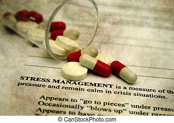 Pills and stress concept