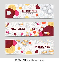Pills Banner Set