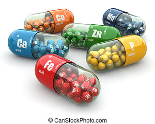 pills., capsules., vielfalt, supplements., vitamin, ...