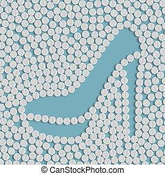 pills concept: shoe, fashion