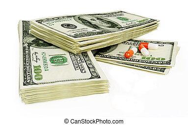 pills dollars