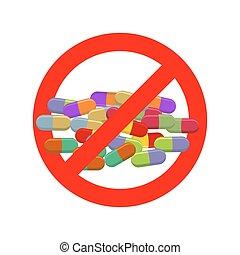 pills., dope., crossed-out, emblema, stimulants., nutrição,...