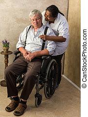 Pills for elderly man