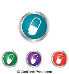 Pills Health & Medical Icon.