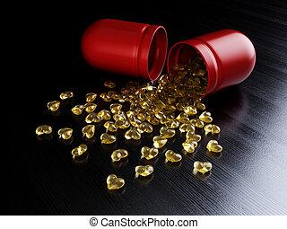 Pills heartshape