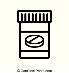 Pills icon. Flat illustration isolated vector symbol