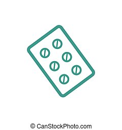 Pills icon sign