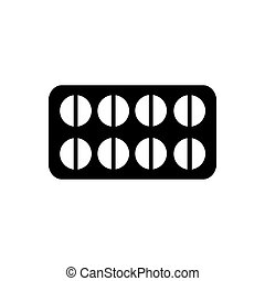 Pills icon. Vector illustration