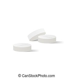 Pills medicine illustration vector on white background. Medical concept.