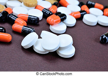 pills on table