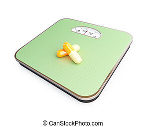 pills on the floor scale