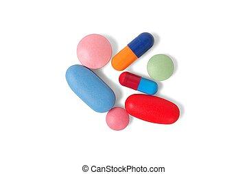 Pills on white