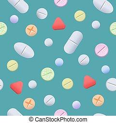 Pills seamless pattern