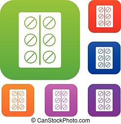 Pills set color collection