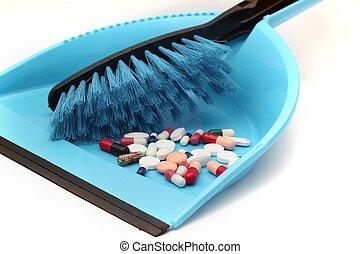 Pills trash concept