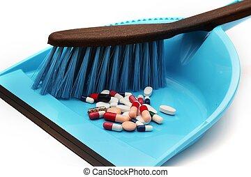 Pills trash