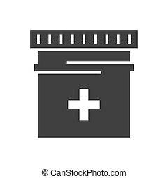 Pills Tube Vector Icon