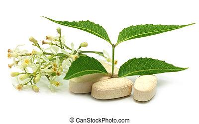 Pills with medicinal neem - Pills made from medicinal neem...