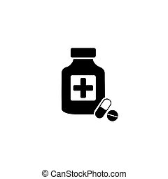 Pills with shadow vector