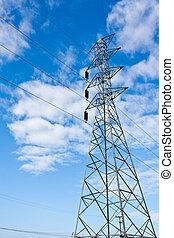 pilones, electricidad