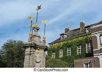 Pilory Fountain in Mons, Belgium - Pilory Fountain in Mons, ...