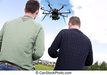 Pilot and Photographer with Photography Drone