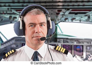 pilot, brett, fluggesellschaft