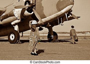 Pilot going off to war