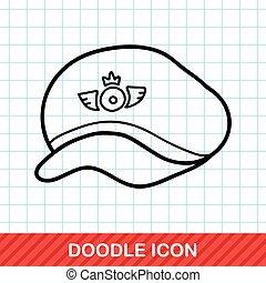 pilot hat doodle