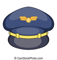 Airline pilots hat (pilot's hat, aviator cap with gold ...