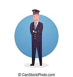 Pilot Icon Airport Airline Crew Worker Staff