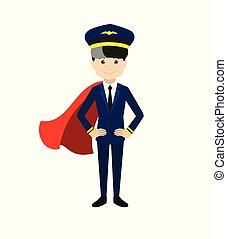 Pilot - In Super Hero Costume