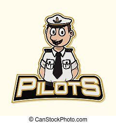 pilot logo illustration design