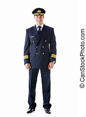 Pilot - The pilot on a white background