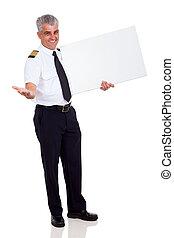 pilot, werbung, fluggesellschaft