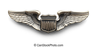 Pilot Wings - Metal Wings given to Pilots in The Air Force. ...