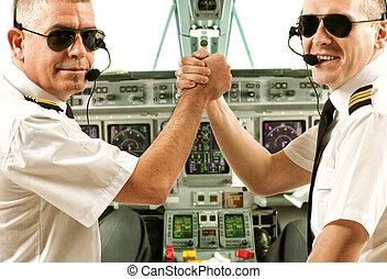 piloten, fluggesellschaft