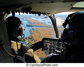 piloten, in, der, hubschrauber