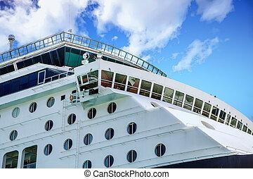 Bridge and Portholes on Cruise Ship