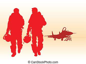 Jet fighter pilots.