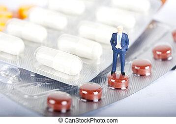 pils, 以及, 藥物, 工業